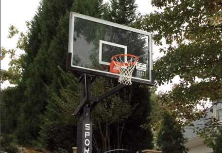 tempered glass backboard with breakaway rim