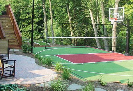 Outdoor Modular Sports Flooring Surfaces